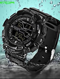 SANDA Pánské Sportovní hodinky Náramkové hodinky Digitální hodinky japonština Digitální Kalendář Voděodolné poplach Svítící Pryž Kapela