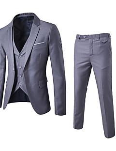 Herren Solide Einfach Arbeit Party/Cocktail Anzug,Steigendes Revers Herbst Lange Ärmel Standard Polyester
