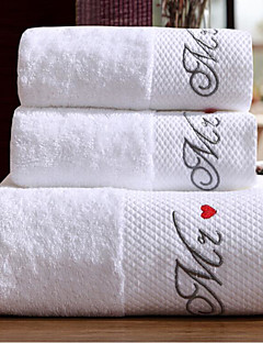 Banyo Havlusu Seti,Nakış süslü Yüksek kalite %100 Pamuk Havlu