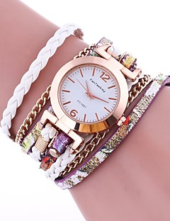 Damen Modeuhr Armband-Uhr Chinesisch Quartz PU Band Vintage Bequem Elegante Schwarz Weiß Blau Rot Braun Grün Gold Rosa