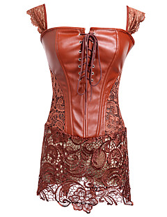 Robes Corset Vêtement de nuit Femme,Sexy Solide