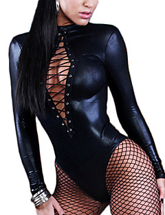 Women Sexy Lingerie Long Sleeve Bandage Catsuit
