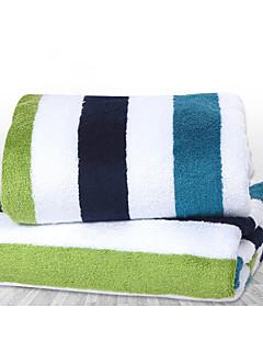 バスタオル,ストライプ 高品質 竹繊維100% タオル
