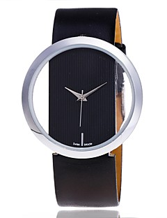 Dame Selskapsklokke Skjelettur Moteklokke Armbåndsur Unike kreative Watch Hverdagsklokke Kinesisk Quartz PU BandTegneserie Sukkertøy