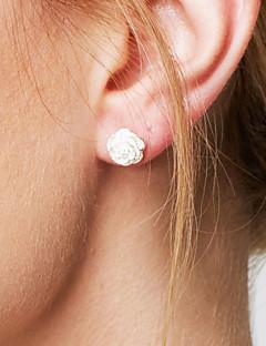 Naisten Niittikorvakorut Yksinkertainen Muoti minimalistisesta pukukorut Sterling-hopea Flower Shape Korut Käyttötarkoitus Häät Party