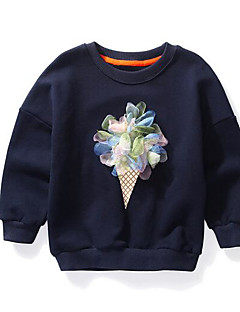 Girls' Flower Blouse,Cotton Fall Long Sleeve