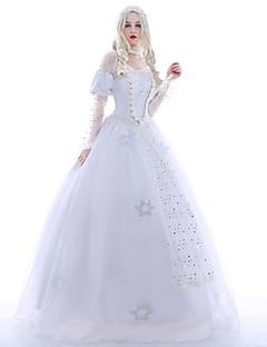 Cosplay-Asut Juhla-asu Naamiaisasu Prinsessa Kuningatar Elokuva Cosplay Valkoinen Leninki Alushame Peruukki Halloween Joulu Karnevaali