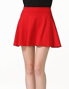 Γυναικείο Γραμμή Α,Sexy Απλός,Εξόδου Καθημερινά Κλαμπ Γιορτή Mini Φούστες Μονόχρωμο Άνοιξη Καλοκαίρι Φθινόπωρο