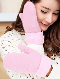 Damă Solid Toamnă Iarnă Accesorii Casual Desen animat Mănuși de Iarnă Keep Warm Încântător Modă Îmbrăcăminte tricotată Lână Blană de