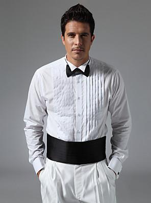 """צווארון כנף 3/4 """"חולצה שמלת קפלים קדמית"""