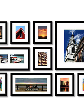 Fotolijsten Modern/Hedendaags Rechthoekig , Hout 10
