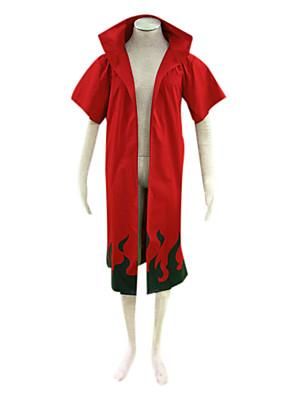 קיבל השראה מ Naruto Naruto Uzumaki אנימה תחפושות קוספליי חליפות קוספליי דפוס אדום קצר גלימה