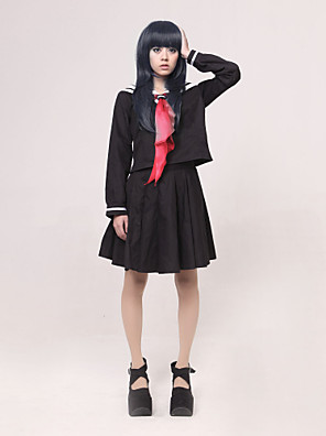 Inspirovaný Hell Girl Ai Enma Anime Cosplay kostýmy Cosplay šaty / Školní uniformy Patchwork Czarny / Czerwony Dlouhé rukávyVrchní deska