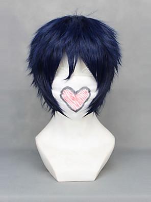 Cosplay Paruky Blue Exorcist Rin Okumura Niebieski Short Anime Cosplay Paruky 30 CM Horkuvzdorné vlákno Pánský