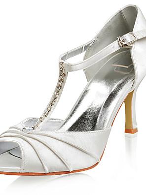 kiváló minőségű szatén felső magas sarkú peep-lábujjak, gumis divat cipő