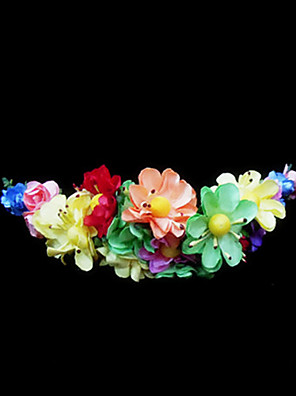 Women's / Flower Girl's Paper Headpiece-Wedding / Special Occasion Flowers