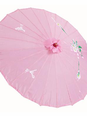 """Bloemen ThemaZijde-Bamboe-Paraplu(Roze)Voorjaar / Zomer 19 """"Hoog (48Cm Hoog) 19 """"Hoog (48Cm Hoog)"""