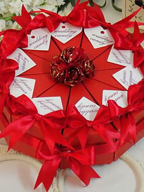 vörös rózsa sütemény javára doboz (10 db)