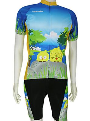 KOOPLUS® חולצת ג'רסי ומכנס קצר ביב לרכיבה לגברים שרוול קצר אופניים נושם / ייבוש מהיר חולצה+שורטס / חולצה+שורטס ארוך / מדים בסטים פוליאסטר
