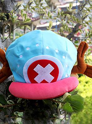Čepice / klobouk Inspirovaný One Piece Tony Tony Chopper Anime Cosplay Doplňky Nabírané / Klobouk Niebieski / Růžová Samet Pánský
