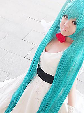 Inspirado por Vocaloid Hagane Miku Vídeo Jogo Cosplay Costumes Ternos de Cosplay Patchwork Branco Top