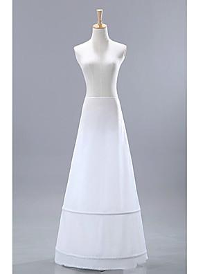 underbara nylon medelstora fullhet slip golv längd kvinnor bröllop underkjolar