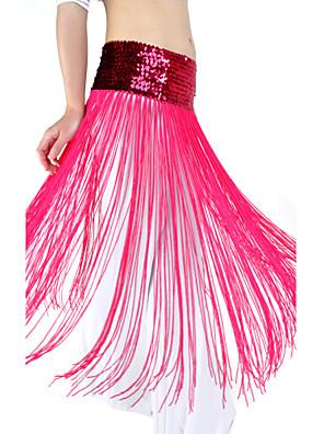 Břišní tanec Pásek Dámské Trénink Polyester Flitry / Střapce Jeden díl Přírodní Šátek přes boky