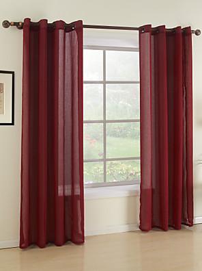 zwei Panele Window Treatment Modern , Solide Esszimmer Stoff Gardinen Shades Haus Dekoration For Fenster