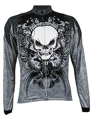 KOOPLUS® חולצת ג'רסי לרכיבה לגברים שרוול ארוך אופניים נושם / שמור על חום הגוף / ייבוש מהיר / רוכסן קדמי / לביש ג'רזי / צמרות 100% פוליאסטר