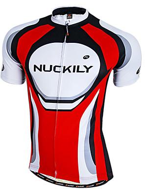 Ho-resfriamento Nuckily-Men Tecido Quick Dry manga curta Ciclismo Jersey