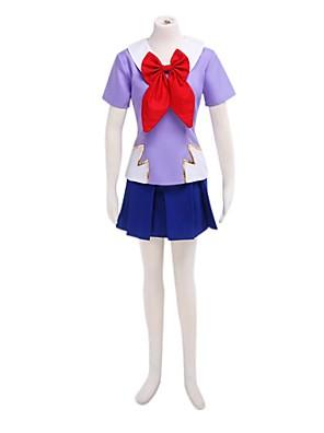 Inspirovaný Budoucí Diary Gasai Yuno Anime Cosplay kostýmy Cosplay šaty / Školní uniformy Patchwork Niebieski / Fialová Krátké rukávy