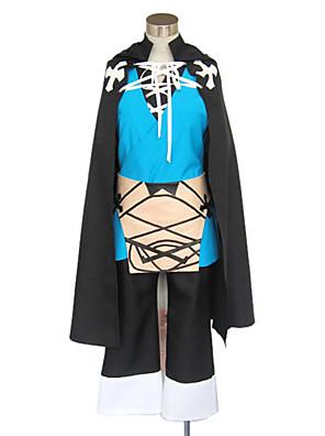 קיבל השראה מ מעבר לגבול Konoe וִידֵאוֹ מִשְׂחָק תחפושות קוספליי חליפות קוספליי / קימונו טלאים שחור / כחול שרוולים ארוכיםגלימה / וסט /