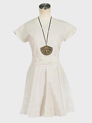 קיבל השראה מ MAGI Morgiana אנימה תחפושות קוספליי חליפות קוספליי / שמלות אחיד לבן קצר שמלה / חגורה
