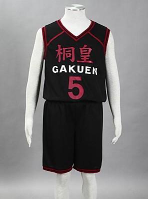 Inspirado por Kuroko não Basket Aomine Daiki Anime Fantasias de Cosplay Ternos de Cosplay Estampado Preto Sem Mangas Colete / Shorts