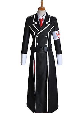 Inspirado por Vocaloid Kagamine Len Vídeo Jogo Cosplay Costumes Ternos de Cosplay Patchwork Preto Manga CompridaCapa / Camisa / Calças /