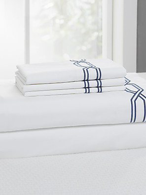 eenvoudig&opulence® vlakke plaat, 300 tc 100% katoen effen wit