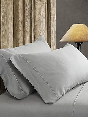 eenvoudig&opulence® 2-pack kussensloop, 100% linnen solide handwerk