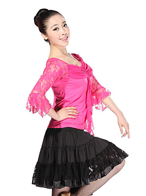 Dança Latina Roupa Treino Renda / Tule / Viscose Renda