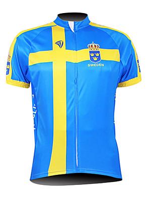KOOPLUS® Cyklodres Pánské Krátké rukávy Jezdit na kole Prodyšné / Voděodolný zip / Přední zip / Nositelný Dres / Vrchní část oděvu100%