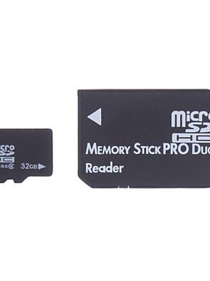 32 GB třída 6 Paměťová karta microSDHC a Memory Stick PRO Duo adaptér