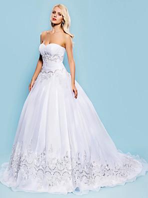 Lanting Bride® Plesové šaty Drobná / Nadměrné velikosti Svatební šaty - Klasické & nadčasové / Elegantní & luxusní RetroVelmi dlouhá