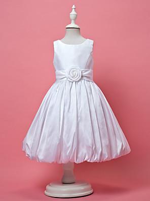 Lanting Bride A-Linie / Princess Ke kolenům Šaty pro květinovou družičku - Taft Bez rukávů Klenot s Nabírání / Květina(y) / Šerpa / Stuha