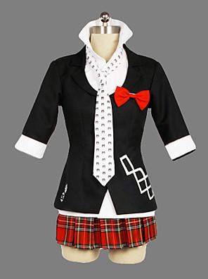 Inspirovaný Dangan Ronpa Junko Enoshima Video Hra Cosplay Kostýmy Cosplay šaty / Školní uniformy Patchwork Czarny Krátké rukávyKabát /
