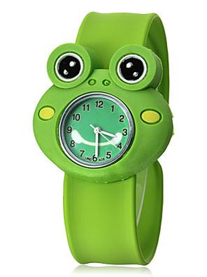 Children's 3D Kikker Shape siliconen band quartz analoog Slap Wrist Watch