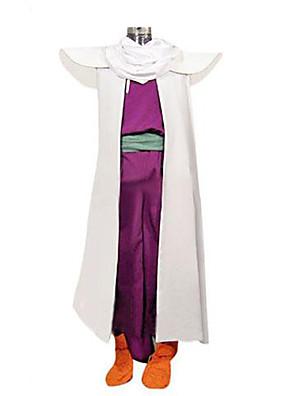 קיבל השראה מ Dragon Ball Son Gohan אנימה תחפושות קוספליי חליפות קוספליי טלאים לבן / סגול בלי שרווליםגלימה / וסט / מכנסיים / צעיף / חגורה