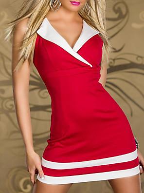 Cosplay Kostýmy Vánoční santa obleky Festival/Svátek Halloweenské kostýmy Červená / Bílá / Černá / Modrá Šaty / T-BackHalloween /