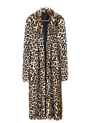 Gyönyörű, hosszú ujjú kábeles Faux Fur Party / alkalmi kabát