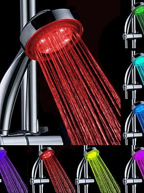 Kortárs Kézi zuhanyzó Króm Funkció for  LED , Zuhanyfej
