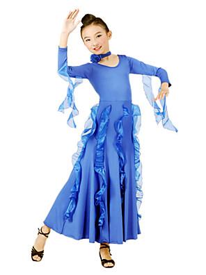 Standardní tance Šaty Dětské Trénink Tyl / Viskóza Dlouhé rukávy