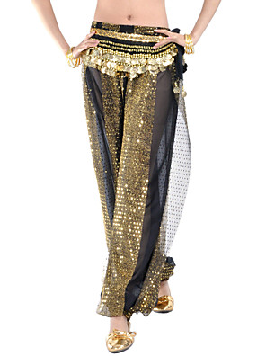 Dancewear Sequins Chiffon Belly Dance Bottom For Ladies(More Colors)without Belt